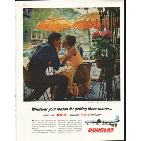 """1958 Douglas Aircraft Ad """"Whatever your reason"""""""