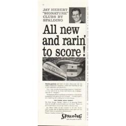 "1958 Spalding Ad ""Jay Hebert"""