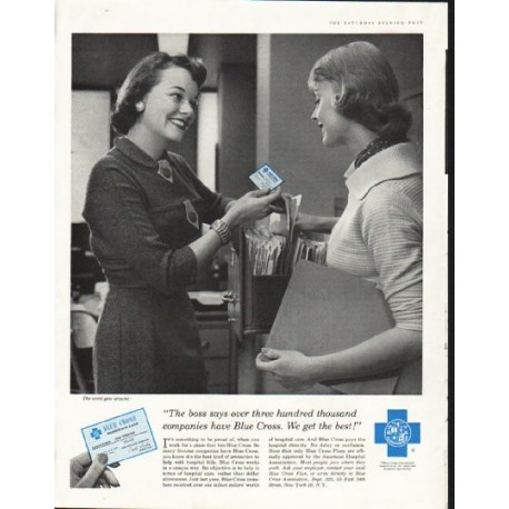 "1958 Blue Cross Ad ""We get the best"""