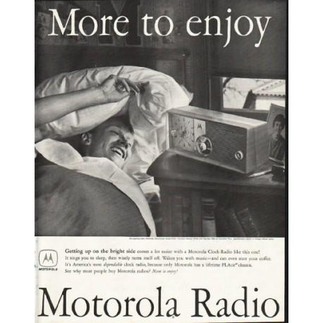 "1958 Motorola Radio Ad ""More to enjoy"""