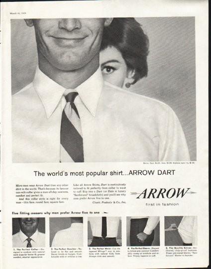 1958 Arrow Shirt Vintage Ad Quot Most Popular Shirt Quot