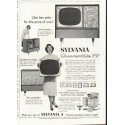 "1958 Sylvania TV Ad ""Like two sets"""