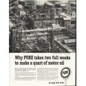 "1958 Pure Motor Oil Ad ""two full weeks"""