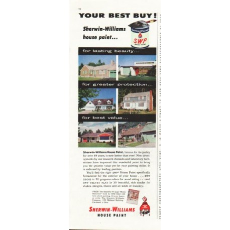 """1958 Sherwin-Williams Ad """"Your Best Buy"""""""
