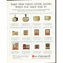 "1958 RCA Victor Ad ""Take this value"""
