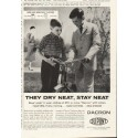 "1958 Du Pont Ad ""They Dry Neat"""