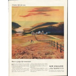 "1958 New England Mutual Life Insurance Company Ad ""better life"""