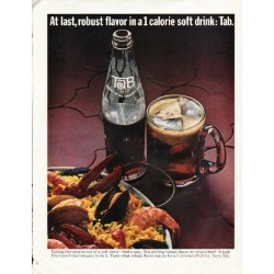 "1965 Tab Soda Ad ""At last, robust flavor"""