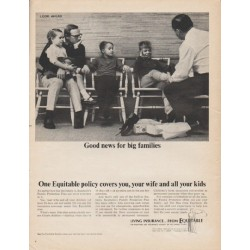 "1965 The Equitable Life Assurance Society Ad ""Good news"""