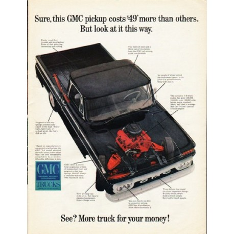 """1965 GMC Trucks Ad """"look at it this way"""""""