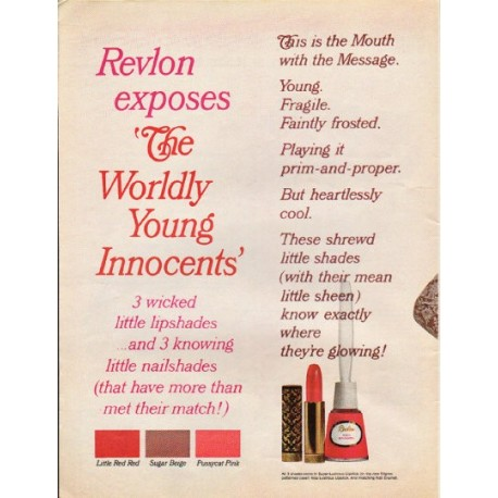 "1965 Revlon Ad ""Worldly Young Innocents"""