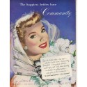 "1949 Community Silverplate Ad ""The happiest brides have Community"""