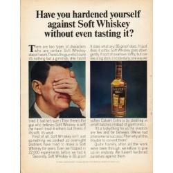 "1965 Calvert Whiskey Ad ""hardened yourself"""