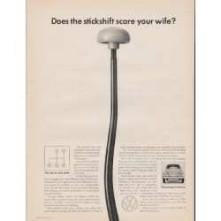 "1965 Volkswagen Ad ""your wife"""