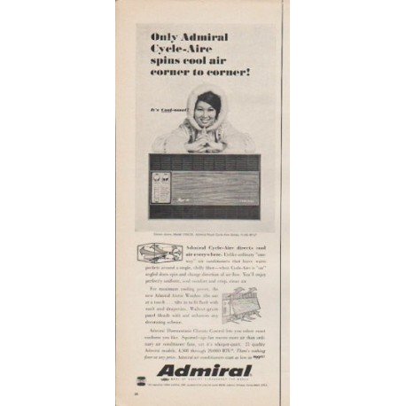 """1965 Admiral Air Conditioner Ad """"Only Admiral"""""""