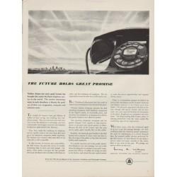 "1949 American Telephone and Telegraph Company Ad ""The Future"""