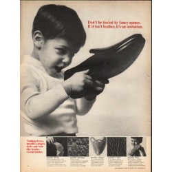 "1965 Leather Industries of America Ad ""Don't be fooled"""