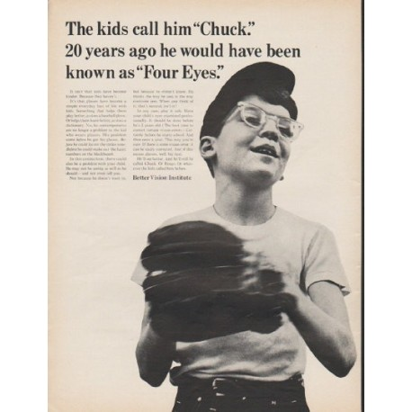 """1965 Better Vision Institute Ad """"Chuck"""""""