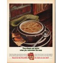 """1965 Campbell's Soup Ad """"Hot and wholesome"""""""