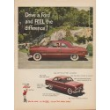 "1949 Ford Ad ""Drive a Ford and FEEL the difference !"""