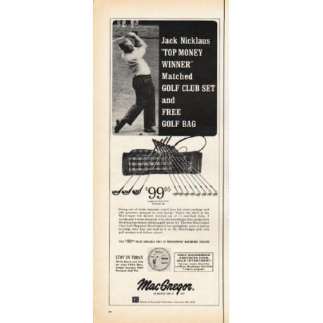 "1965 MacGregor Golf Clubs Ad ""Jack Nicklaus"""