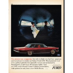 "1965 Ford Galaxie Ad ""Our picture may exaggerate"" ~ (model year 1965)"