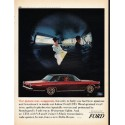 """1965 Ford Galaxie Ad """"Our picture may exaggerate"""" ~ (model year 1965)"""