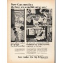 """1965 American Gas Association Ad """"the best air-conditioning"""""""