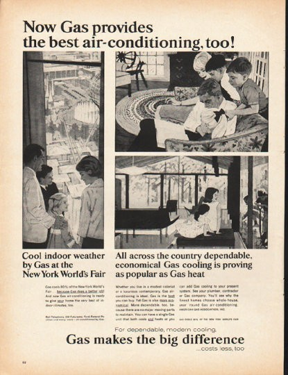 1965 American Gas Association Vintage Ad Quot The Best Air