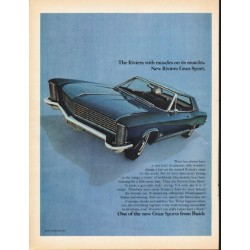"1965 Buick Riviera Ad ""The Riviera with muscles"" ~ (model year 1965)"