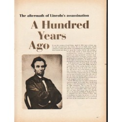 "1965 Lincoln Assassination Article ""A Hundred Years Ago"""