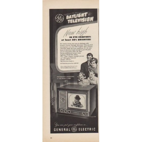 "1949 General Electric Ad ""Daylight Television"""