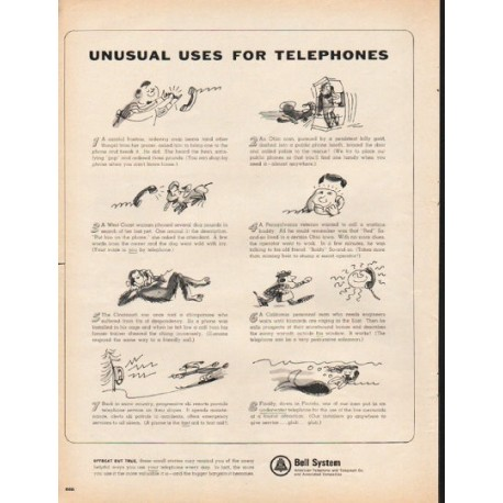 """1965 Bell System Ad """"Unusual Uses"""""""