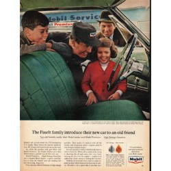 "1965 Mobil Oil Ad ""The Faselt family"""