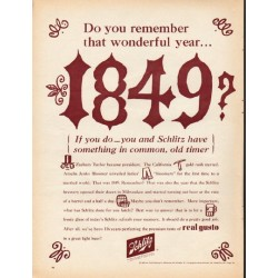 "1965 Schlitz Beer Ad ""Do you remember that wonderful year"""