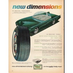 "1965 Kelly Tires Ad ""new dimensions"""