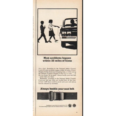 """1965 National Safety Council Ad """"Most accidents"""""""