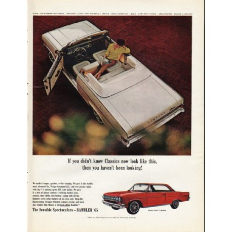 "1965 Rambler Ad ""If you didn't know Classics"" ~ (model year 1965)"