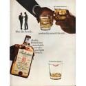 "1965 Ballantine's Scotch Ad ""Men like Scotch"""