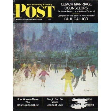 Military Vehicles For Sale >> 1963 Saturday Evening Post Vintage Cover Page ~ January 5 ...