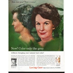 "1963 Clairol Ad ""Color only the gray"""