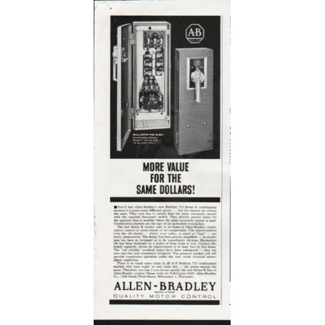 "1963 Allen-Bradley Ad ""More Value"""