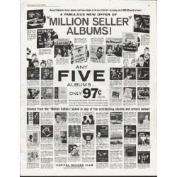 "1963 Capitol Record Club Ad ""Million Seller"""