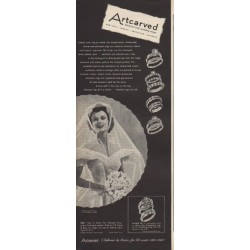 "1949 Artcarved Rings Ad ""Choose your ring by name -- by trusted name"""