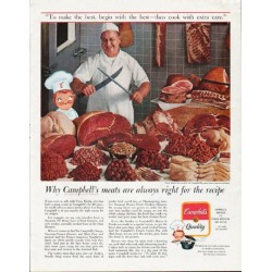 "1963 Campbell's Soup Ad ""Campbell's meats are always right"""
