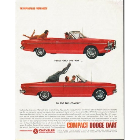"1963 Dodge Dart Ad ""There's only one way"" ~ (model year 1963)"