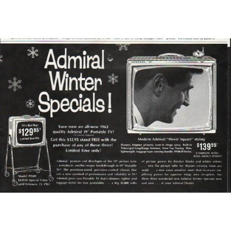 "1963 Admiral Television Ad ""Admiral Winter Specials"""