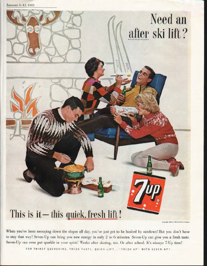 "Quick Ads For Beauty Product Blusher Oneminutebriefs: 1963 7-Up Vintage Ad ""this Quick, Fresh Lift"""