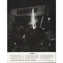 "1963 Electric Light and Power Companies Ad ""Danger"""