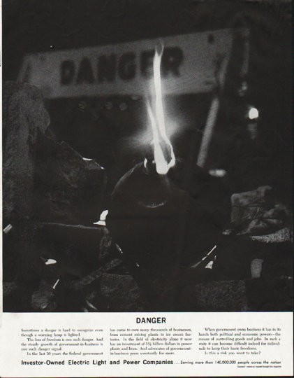1963 Electric Light And Power Companies Vintage Ad Quot Danger Quot
